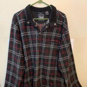VTG Chaps Plaid Fleece Pullover Mens Size XL